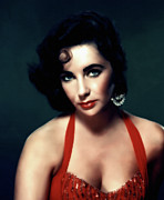Traditional Media Prints - Elizabeth Taylor  Print by Zeana Romanovna