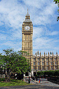 London Metal Prints - Elizabeth Tower and Big Ben Metal Print by Tony Murtagh