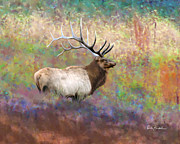 Elk Prints - Elk Art - Keeping Watch Print by Elk Artist Dale Kunkel