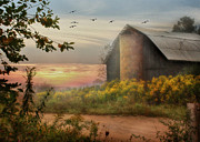 Barn Digital Art - Elk County by Lori Deiter