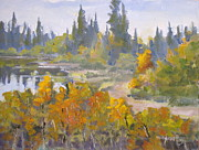 Autumn Painting Originals - Elk Island 7 by Mohamed Hirji