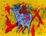 Elk Mixed Media - Elk by Kenny Henson