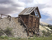 Gold Belt Prints - Elkhorn Ghost Town Mine Chute Terminus - Montana Print by Daniel Hagerman