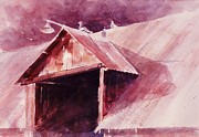 John Svenson Framed Prints - Elkhorn Valley Barn Framed Print by John  Svenson