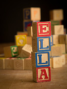 Alphabet Metal Prints - ELLA - Alphabet Blocks Metal Print by Edward Fielding