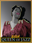 Vocalist Metal Prints - Ella Fitzgerald Jazz Singer Metal Print by Larry Butterworth