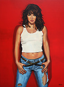 Celebrities Portrait Art - Ellen ten Damme by Paul  Meijering