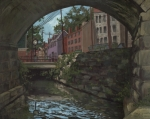 Edward Williams Art - Ellicott City Bridge by Edward Williams