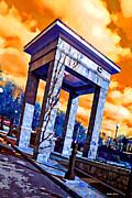 Catonsville Framed Prints - Ellicott City Courthouse Path Framed Print by Stephen Younts