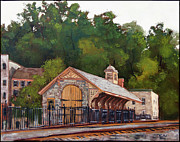 Edward Williams Art - Ellicott Mills Station by Edward Williams