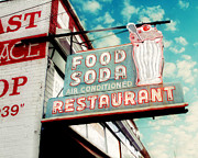 Vintage Signs Posters - Elliston Place Soda Shop Poster by Amy Tyler