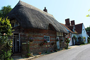 Charming Cottage Prints - Elm Cottage Nether Wallop Print by Terri  Waters