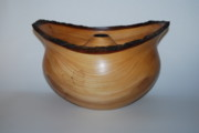 Hollow Sculptures - Elm Natural Edge Hollow Form by Terry  Tjader