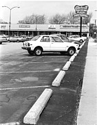Historic Country Store Prints - Elmhurst Illinois Shopping Plaza Circa 1980 Print by ImagesAsArt Photos And Graphics