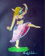 Fantasy Pastels - Elven Belly Dancer by Wendy Coulson