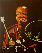 Drum Painting Framed Prints - Elvin III Framed Print by Pete Maier