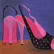 Stilettos Paintings - Elviras Shoes by Laurel Best