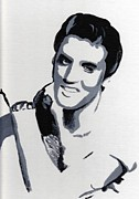 Elvis Presley Art - Elvis 1 by Audrey Pollitt