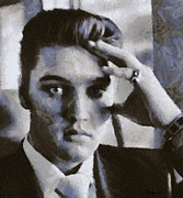 Elvis Presley Art - Elvis 1956 by Robin Huggins