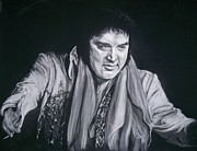 Music Pastels Metal Prints - Elvis 1977 Metal Print by Martha Suhocke