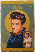 Elvis Presley Painting Originals - Elvis A Legendary Icon by Shawn Shea