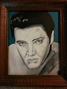 Elvis Presley Painting Originals - Elvis by Amelia Lumpkin