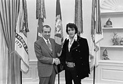 The White House Framed Prints - Elvis and the President Framed Print by Mountain Dreams