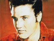 Anke Wheeler Paintings - Elvis  by Anke Wheeler