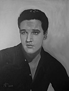 Elvis Presley Painting Originals - Elvis by Antonio Marchese