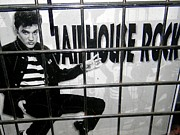 Window Bars Prints - Elvis Behind Bars Print by Ed Weidman