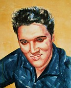 Elvis Presley Painting Originals - Elvis by Brian Degnon