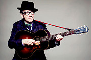 Guitarist Photo Framed Prints - Elvis Costello Poster Framed Print by Sanely Great