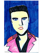 Rock Portraits Mixed Media Originals - Elvis by Don Koester