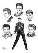 Elvis Elvis Elvis Print by Murphy Elliott