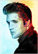 Jailhouse Rock Framed Prints - Elvis Framed Print by Enrico Varrasso