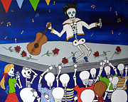 Elvis Presley Art - Elvis in Concert Day of the Dead by Julie Ellison