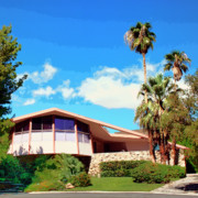 Elvis Presley Photos - ELVIS IS HOME Elvis Presley Honeymoon Home Palm Springs by William Dey