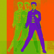 Elvis Presley Digital Art - Elvis Jail House Rock 20130215m28 by Wingsdomain Art and Photography