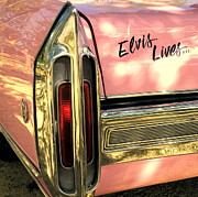 Pink Cadillac Prints - Elvis Lives Print by Joe JAKE Pratt