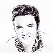Elvis Print by Martin Howard