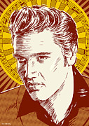 Presley Prints - Elvis Pop Art Print by Jim Zahniser