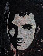 Portraits Paintings - Elvis Presley 1  by Oscar Penalber