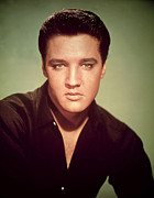 Music Icon Photo Prints - Elvis Presley  Print by American Photographer