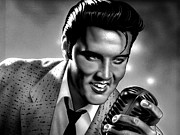 Presley Art - Elvis Presley Art Poster by Sanely Great