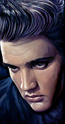 Elvis Presley Artwork 2 Print by Sheraz A