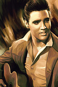 Elvis Presley Artwork Print by Sheraz A