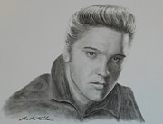 Rock N Roll Drawings Originals - Elvis Presley by Brent  Mileham