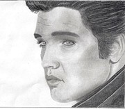 Rock N Roll Mixed Media Originals - Elvis Presley by Chris Mirabella