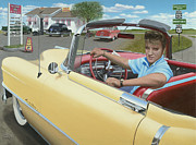 Caddy Paintings - Elvis Presley by Chris Osborne