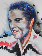 Elvis Portrait Paintings - Elvis Presley by Chrisann Ellis